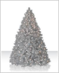 silver tinsel artificial trees tree market