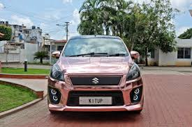 rose gold mercedes maruti suzuki ertiga modified kitup rose gold wrap rear front