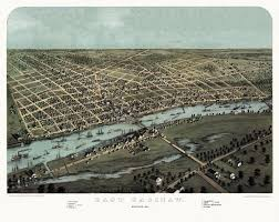 Saginaw Michigan Map by Old Map Of Saginaw Michigan 1867 Saginaw County Poster Saginaw