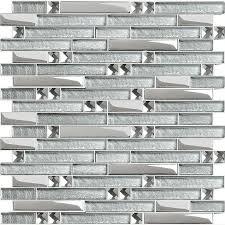 wholesale backsplash tile kitchen wholesale glass tile mosaic sticker silver