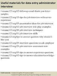 Data Entry Job Resume Samples by Top 8 Data Entry Administrator Resume Samples