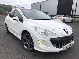 peugeot 308 2008 sold 2008 white peugeot 308 2 0 diesel gt pan roof full mot in
