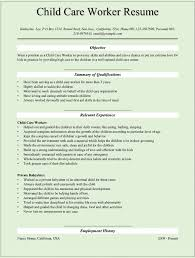 Construction Worker Resume Samples by Objective For Resume For Child Care Resume For Your Job Application