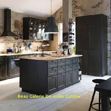 solde cuisine cuisine avec ilot ikea et murs en brique beau galerie de solde