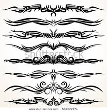 ornamental rule lines tribal style border stock vector 584622274