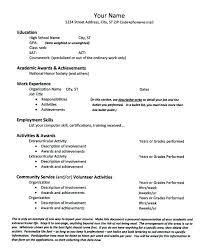 academic resume for college applications sle high resume for college admission