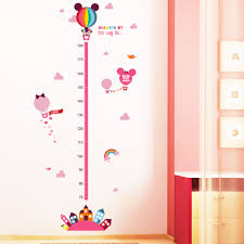 mickey minnie mouse growth chart height measure wall sticker height chart wall sticker note when you receive the sticker it is rolled up in the tube however it is easier to work with when the sticker is flat