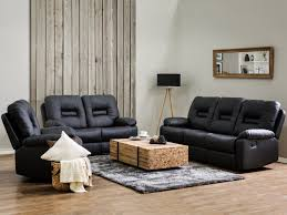 black faux leather living room furniture set bergen beliani co uk