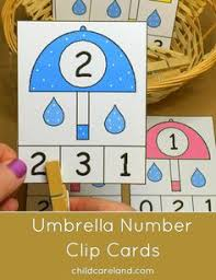 umbrella counting u0026 color sort u2013 stem for kids motor skills
