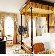 Four Poster Bed Curtains Drapes Four Poster Bed With Curtains Stock Photos U0026 Four Poster Bed With
