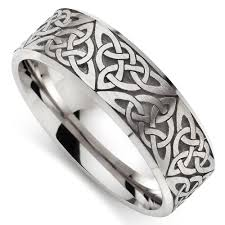 celtic mens wedding bands wedding rings celtic white gold wedding ring 9ct white gold