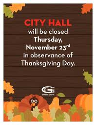 city closed no sweeping thanksgiving day city of