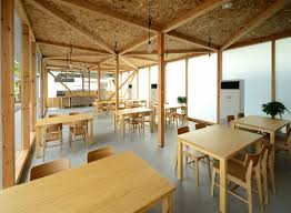 office canteen design cafeteria in ushimado niji architects archdaily
