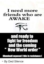 New Meme Order - i need more friends who are awake and ready to fight for freedom and