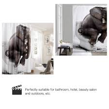 Paris Fabric Shower Curtain by Nanaz Vintage Paris Themed Bluish Brown Eiffel Tower Bathroom