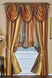 Rust Colored Kitchen Curtains by Ombre Decorative Window Treatments Chocolate Achim