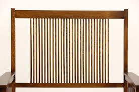 sold stickley signed craftsman oak vintage hall bench or settee