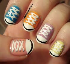 nailed it nz nail art for short nails 9 chuck taylorsshoe nails