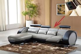 Grey Leather Reclining Sofa Living Room Gray Leather Power Reclining Sofa Low Price Living