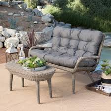 100 Wicker Patio Coffee Table - belham living kambree all weather wicker outdoor conversation set
