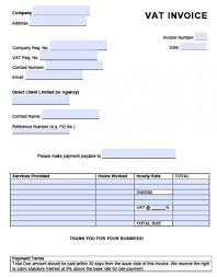 invoice with vat template free invoice template uk ideas