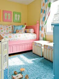 Curtains For Yellow Bedroom by Pink Yellow Bedroom For Little Girls And Polka Dot Curtains Also