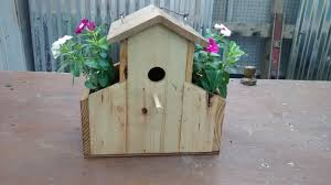 pallet wood bird house youtube