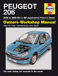 peugeot 206 petrol u0026 diesel 02 09 haynes repair manual