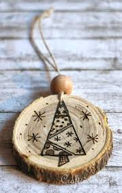 wooden christmas ornaments wood crafts for christmas wood burned christmas ornaments from