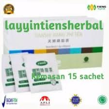 Masker Hijau 1 Box tiens jiang zhi tea free kuas masker teh hijau tianshi pelangsing
