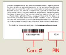 buy used gift cards gift cards men s wearhouse