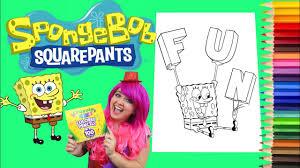 spongebob coloring book coloring spongebob u0026 plankton giant coloring book page crayola