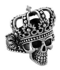 steel skull rings images Stainless steel the king skull ring gif