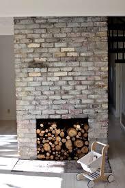 White Washed Stone Fireplace Life by The Treehouse Whitewashed Bricks Tutorial Design Mom
