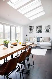 best 25 conservatory dining room ideas on pinterest open plan industrial kitchen extension dining living rooflights with sofa and table