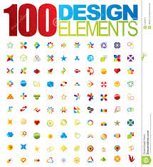 100 vector logo and design elements royalty free stock photography