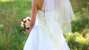 Wedding Dress With Train Wedding Dress With Train Beautiful Wedding Bouquet Of Flowers In