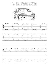 trace letter c worksheets activity shelter