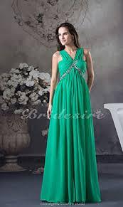 etui linie v ausschnitt bodenlang chiffon brautjungfernkleid mit blumen p629 bridesire grün abendkleider grün kleider grün 2017
