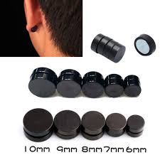 black ear studs 1pair black magnetic clip on ear stud earrings no piercing