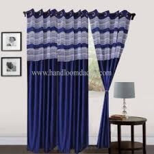 Royal Blue Blackout Curtains Curtain Handloom Daddy Royal Blue Door Curtain With Net Set Of