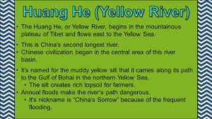 Yellow River China Map by Ss7g9 The Student Will Locate Selected Features In Southern And