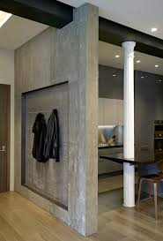 classical columns and concrete walls mix in stylish ny loft
