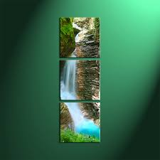 waterfall home decor trendy panel home decoration wall art home decor piece wall art landscape multi panel art forest large canvas with waterfall home decor