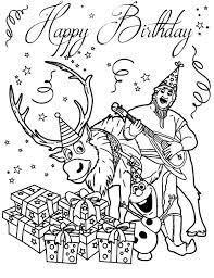 kristoff sven celebrate olaf birthday coloring pages kristoff
