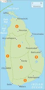 Map Of West Coast Map Of Sri Lanka Sri Lanka Regions Rough Guides