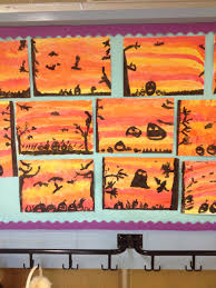 halloween paintings and poetry by 3rd class st dominic u0027s