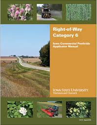 category 6 right of way iowa commercial pesticide applicator