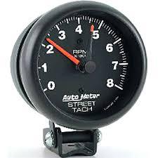 auto meter 2894 z series street tachometer 3 3 4