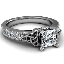 Princess Cut Diamond Wedding Rings by Unique Princess Cut Engagement Rings Look Beautiful With